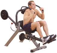 GAB300  BODYSOLID SEMI  RECUMBENT AB BENCH
