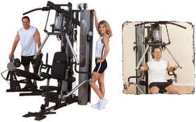 Commercial Multi Stack Gyms ' � G10B BODYSOLID BI-ANGULAR PRESS MULTI GYM