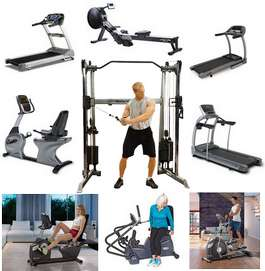 Treadmills, Bikes, Ellipticals, Home Gyms, Commercial Gyms, Rowers, Power Blocks, Benches, Racks,