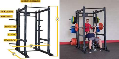 Commercial Extended Power Rack SPR1000BACK