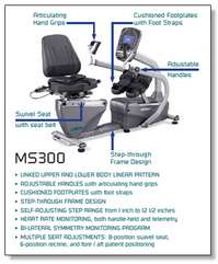 SPIRIT FITNESS MS300 Semi-Recumbent Total Body Stepper