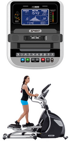 SPIRIT FITNESS XE895 LT. COMMERCIAL ELLIPTICAL