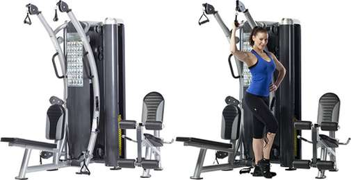TUFF STUFF HTX-2000 DUAL STACK FUNCTIONAL TRAINER LT. COMMERCIAL