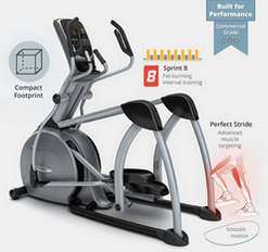 VISION FITNESS S70 COMMERCIAL SUSPENSION ELLIPTICAL