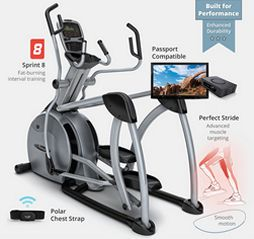 Vision fitness S7200 HRT suspension elliptical LT.commercial